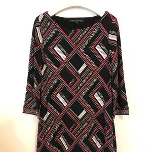 White House Black Market Dress Medium Black Red